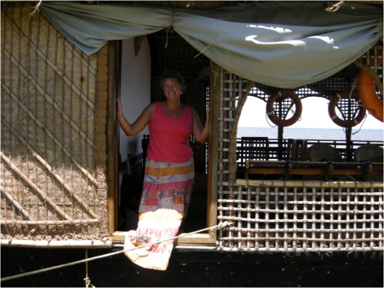 Door of houseboat